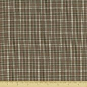 Rustic Woven Small Plaid Cotton Fabric - Sage 1339