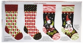 S'Noel Snowman Cotton Fabric - Craft Panel
