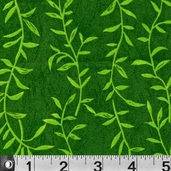 Safari So Good Cotton Fabric  - Vines Green