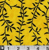 Safari So Good Cotton Fabric  - Vines Yellow