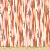 Safari Sweet Organic Cotton Fabric - Stripes Orange