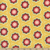 Salt Air Coral Bloom Cotton Fabric - Sunshine 37023-14