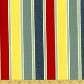 Salt Air Cotton Fabric - Summer Deck Chairs