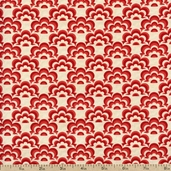 Salt Air Half Shell Cotton Fabric - Coral 37028-14