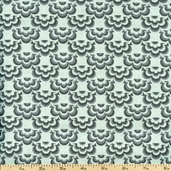 Salt Air Half Shell Cotton Fabric - Mist 37028-11