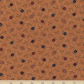Sandhill Plums Cotton Fabric - Berry Pickin' Gold