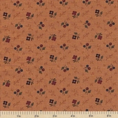 Sandhill Plums Cotton Fabric - Branches Blooms Gold - Clearance