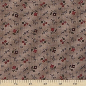 Sandhill Plums Cotton Fabric - Branches Blooms Navy