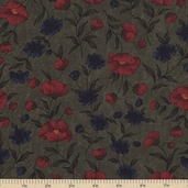 Sandhill Plums Cotton Fabric - Bush Green