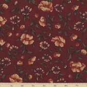Sandhill Plums Cotton Fabric - Bush Red