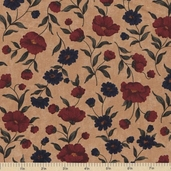 Sandhill Plums Cotton Fabric - Bush Tan