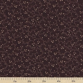 Sandhill Plums Cotton Fabric - Floral Vines Plum