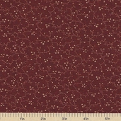 Sandhill Plums Cotton Fabric - Floral Vines Red