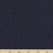 Sandhill Plums Cotton Fabric - Small Floral Navy