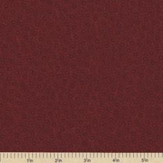 Sandhill Plums Cotton Fabric - Small Floral Red