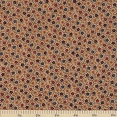 Sandhill Plums Cotton Fabric - Small Floral Tan