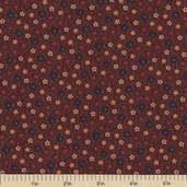 Sandhill Plums Cotton Fabrics - Small Floral Red