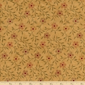 Sandhill Plums Vine Cotton Fabric - Tan 9355-11