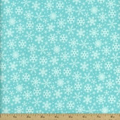 Santa Express Snowflake Flannel Fabric - Blue