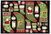 Santa's Gifts Gift Panel Cotton Fabric - Black 1862-67486-973S