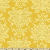 Santorini Damask Cotton Fabric - Yellow 11413-13