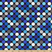 Sapphire Dot Cotton Fabric - Black