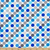 Sapphire Dot Cotton Fabric - White