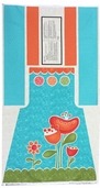 Sassy Cotton Fabric - Apron Panel Cream