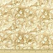 Sassy Shoes Cotton Fabric - Beige 23307
