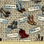 Sassy Shoes High Heels Cotton Fabric - 23302