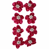 Satin Ribbon Flowers - Fushia