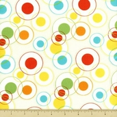 Savanna Bop Cotton Fabrics - Circle Dot - Multi
