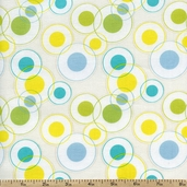 Savanna Bop Dots Cotton Fabric - Yellow