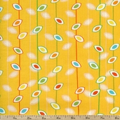 Savanna Bop Vine Stripe Cotton Fabric - Yellow