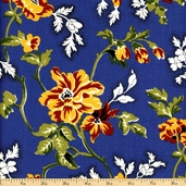 Savonnerie Cotton Fabric - Blue 21632-14