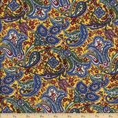 Savonnerie Cotton Fabric - Yellow 21631-15