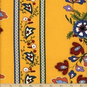 Savonnerie Cotton Fabric - Yellow 21633-15