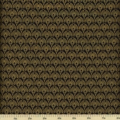 Sayomi Cotton Fabric - Black Gold K7119-4