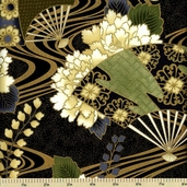 Sayomi Cotton Fabric - Bonsai Gold K7125-433