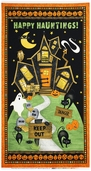 Scaredy Cats Door Banner Cotton Fabric Panel