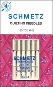 Schmetz Quilting Sewing Machine Needles 5/pk Size (3)75/11 (2)90/14