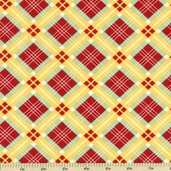 School Days Uniform Check Cotton Fabric - Apple