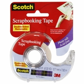 Scotch Double Sided Removble Scrapbooking Tape - Clear