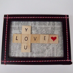 Scrabble Tile Picture Frame