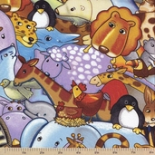 Sea of Dreams Packed Animals Cotton Fabric - Multi