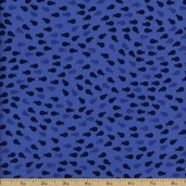 Sea Breeze Silhouettes Cotton Fabric - Blue