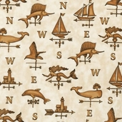 Seaport View Fabric - Beige - CLEARANCE