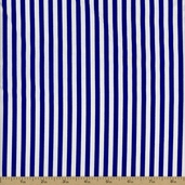 Seaside Stripe Cotton Fabric - Sapphire