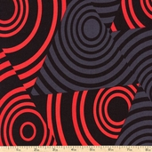 Seeing Red Eclipse Cotton Fabric - Red
