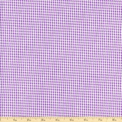 Seersucker Check Cotton Blend Fabric - Lupine